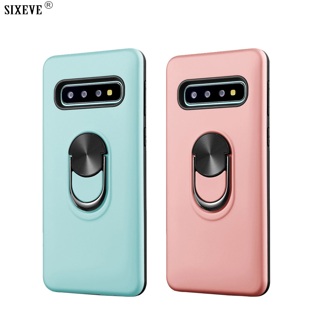 Magnetic Car Case For Samsung Galaxy S8 S9 S10 Plus Note 8 9 10 Pro M20 A6 A7 A9 2018 A10 Silicon Soft Mobile Phone