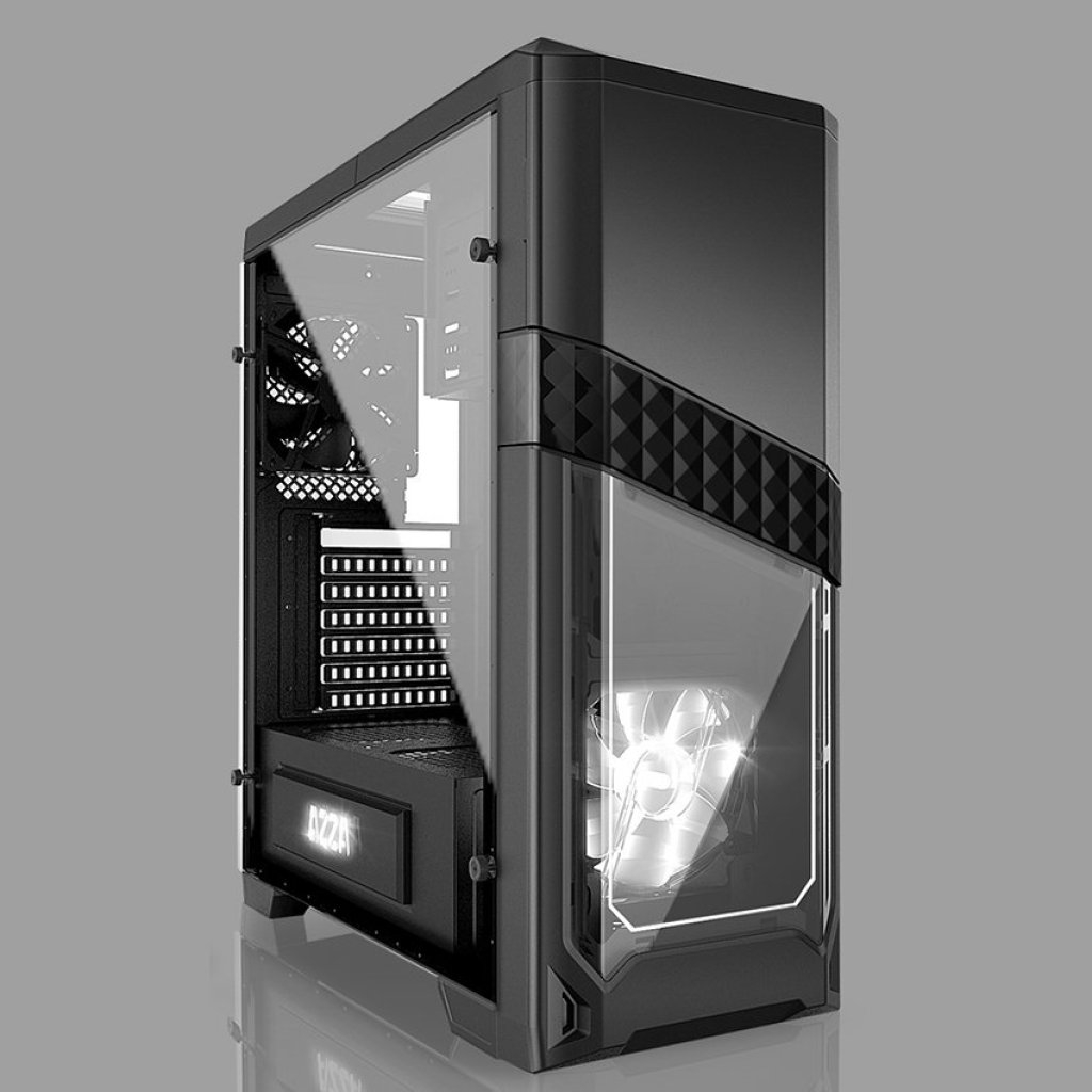 AZZA  ATX Mid Tower Case Titan 240 CSAZ-240 - BlackZZA  ATX Mid Tower Case Titan 240 CSAZ-240 - Black
