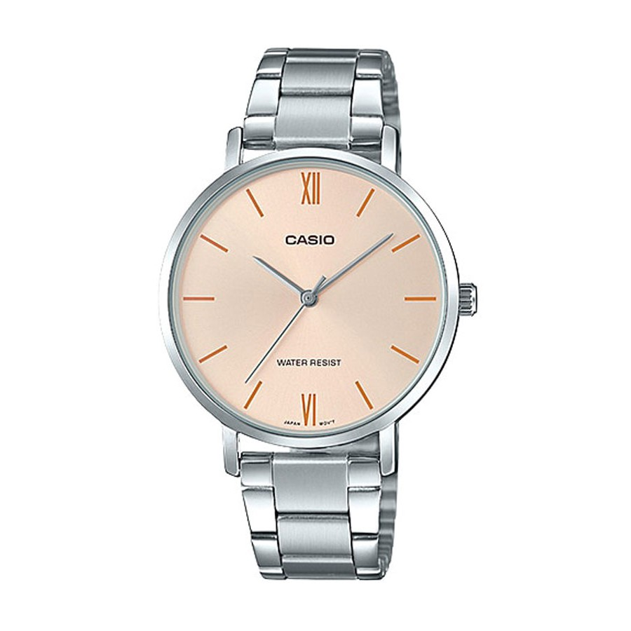 Casio Standard นาฬิกาข้อมือผู้หญิง สายสแตนเลส รุ่น LTP-VT01D,LTP-VT01D-4B - สีเงิน