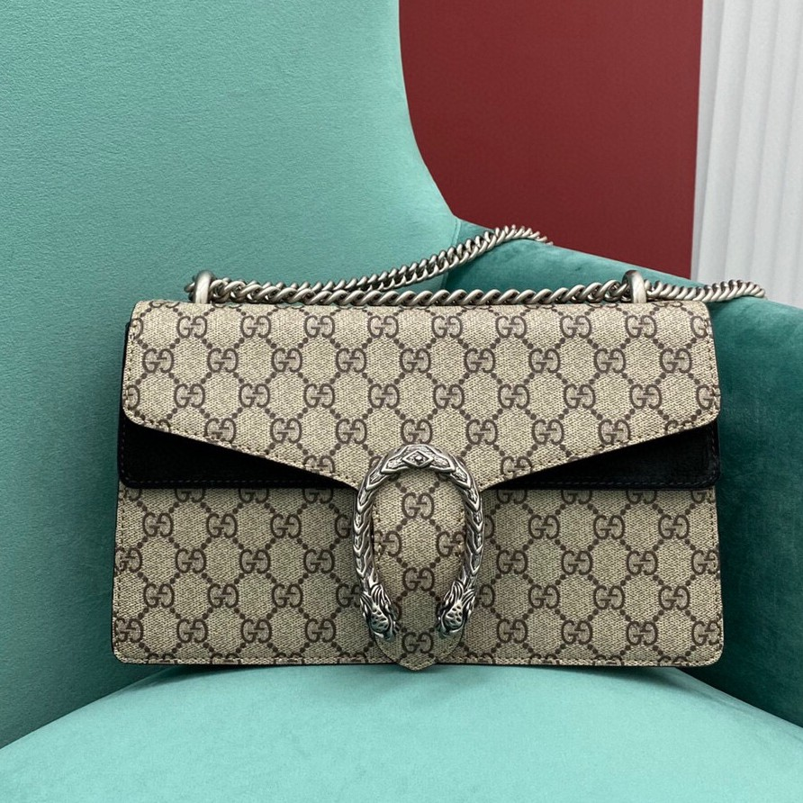 GUCCI  dionysus medium ะเป๋าสะพายกระเป๋าสะพายไหล่กระเป๋าสะพายข้าง หนังแท้กระเป๋าสตางค์ แบรนด์เนน กระเป๋าแฟชั่น
