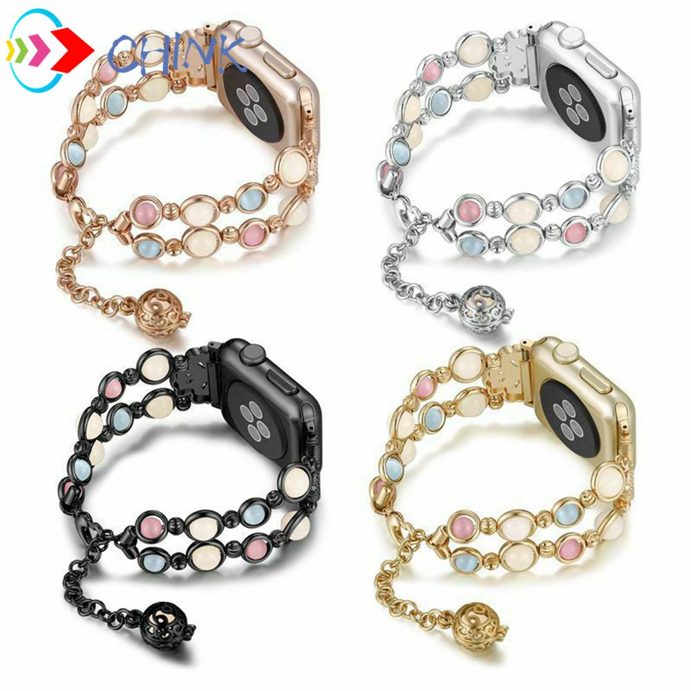 CHINK Luminous Pearl Strap Women Bracelet iWatch Band for Apple Watch Series 5 4 3 2 1