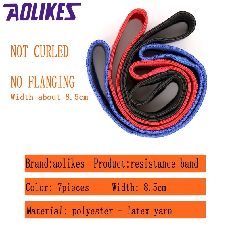 Aolikes ยางยืด ยางยืดออกกําลังกาย Resistance Band Latex Non-slip Elasticity Hip Buttocks Fitness Squat vx6E