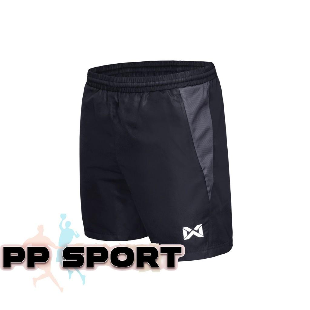 กางเกงขาสั้นเอวยางยืดสีดำ กางเกงออกกำลังกาย warrix WP 3108