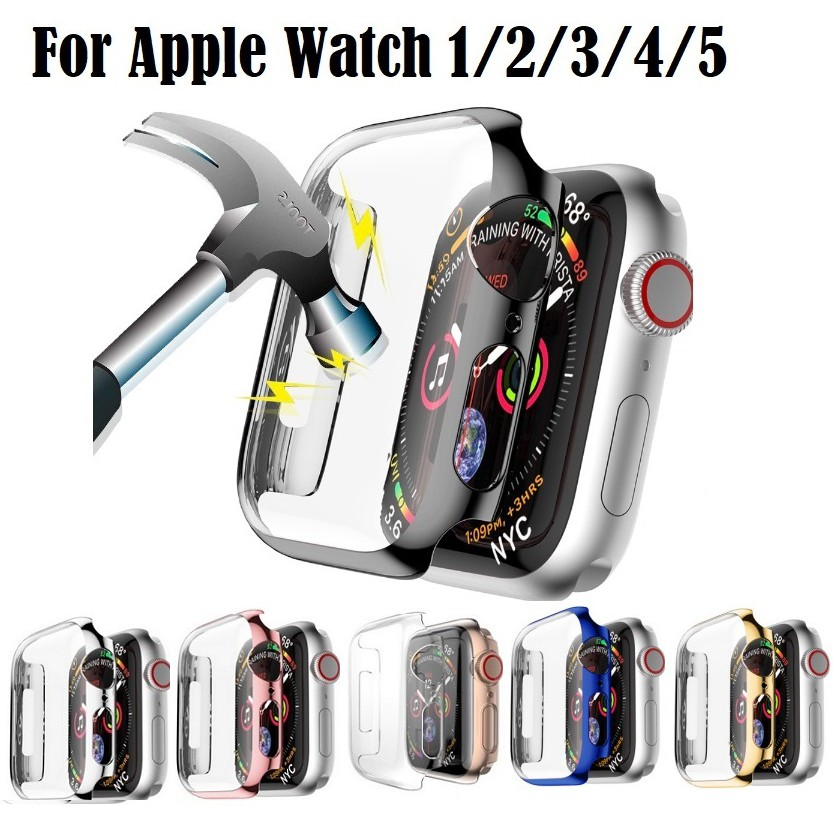 เคส Apple Watch ขนาด 38 มม. 40 มม. 42 มม. 44 มม. PC Hard case for AppleWatch Series 6/5/4/3/2/1,Apple Watch SE Case