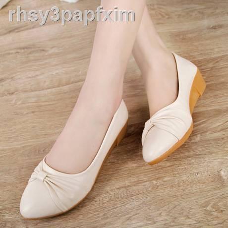 ✿เกาหลี❤ ❂۞◈รองเท้าคัชชูผู้หญิงส้น5⭐️มาใหม่ No.F041 **** มี 2 สี รองเท้าคัดชูรองเท้าคัทชูหนังหญิงส้นสูงส้นเท้าดำรองเท้า