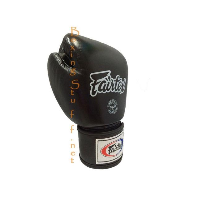 นวมชกมวย Fairtex BGV1 สีดำ / Fairtex Black Breathable Boxing Gloves