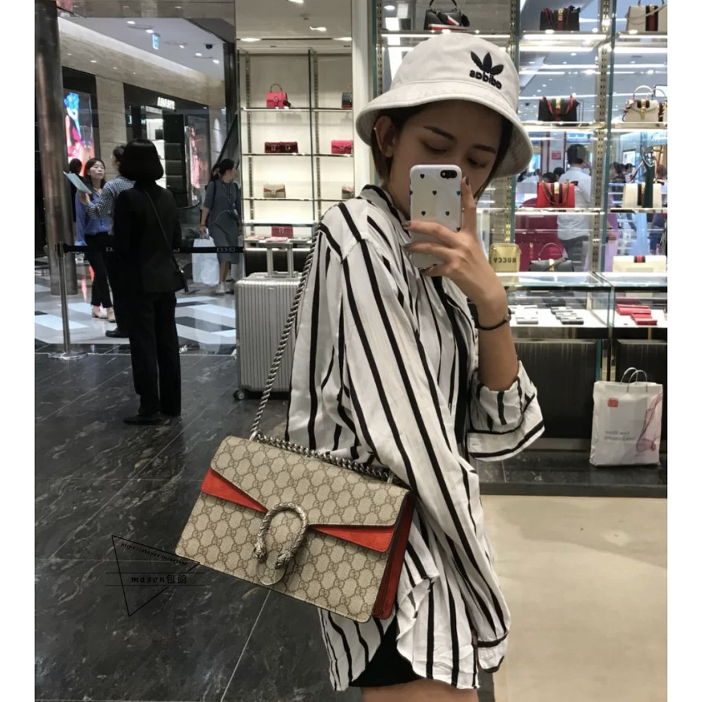 💕สวยสุด ๆ จำกัด เวลาพิเศษ Gucci Dionysus Bacchus Bag🔥 Gucci Crossbody Bag Side Shoulder Crossbody Bag Chain Bag Double G Shoulder Bag