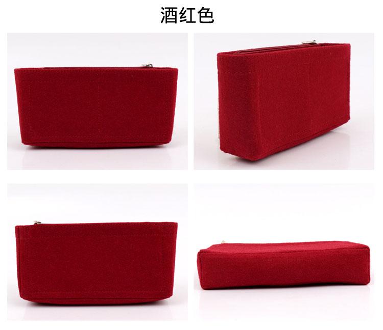 ♋◔ปรับแต่งสำหรับ CHANEL Chanel 19 flap bag liner bag middle bag finish bag Cosmetic bag ซับในรองรับ กระเป๋าเครื่องสำอางจ