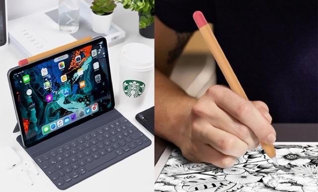บางกว่าเดิม Case Apple รุ่นใหม่ เคสปากกา 1/2 เคสปากกาซิลิโคน Pencil ปลอกปากกาซิลิโคน Pencil  Apple