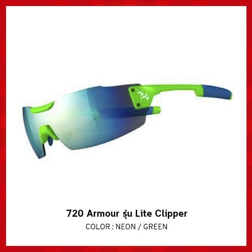 แว่นตาจักรยาน 720 Armour รุ่น Lite Clipper สี Neon Green