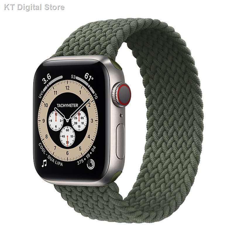 【อุปกรณ์เสริมของ applewatch】❖┋ใช้ได้กับ Apple Watch ที่มี Applewatch6 5 4 สายถัก iwatch se แบบยืดหยุ่นเดี่ยว ตัก 32
