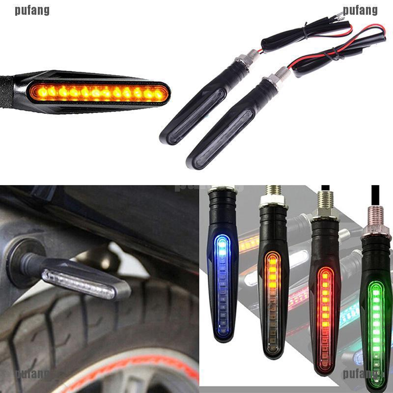 1Pc universal flowing motorcycle motorbike LED turn signal indicator light
