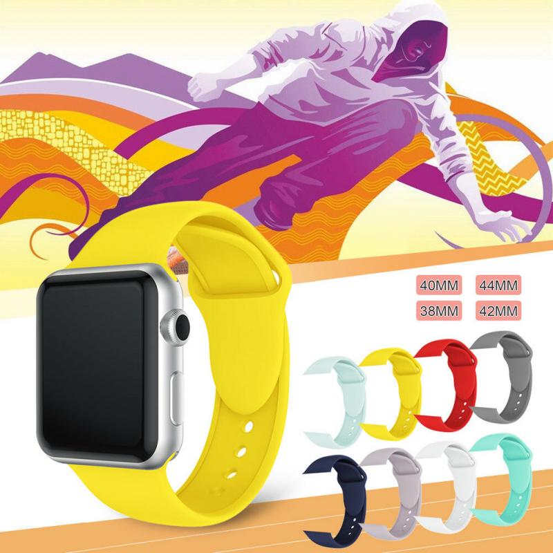 Appleสายรัดข้อมือ สาย Apple Watch Series 1/2/3/4 Iwatch Applewatch สายนาฬิกาสายยาง สายนาฬิกาซิลิโคน สายคล้อง สายนาฬิกาข้อมือซิลิโคน Wrist Band