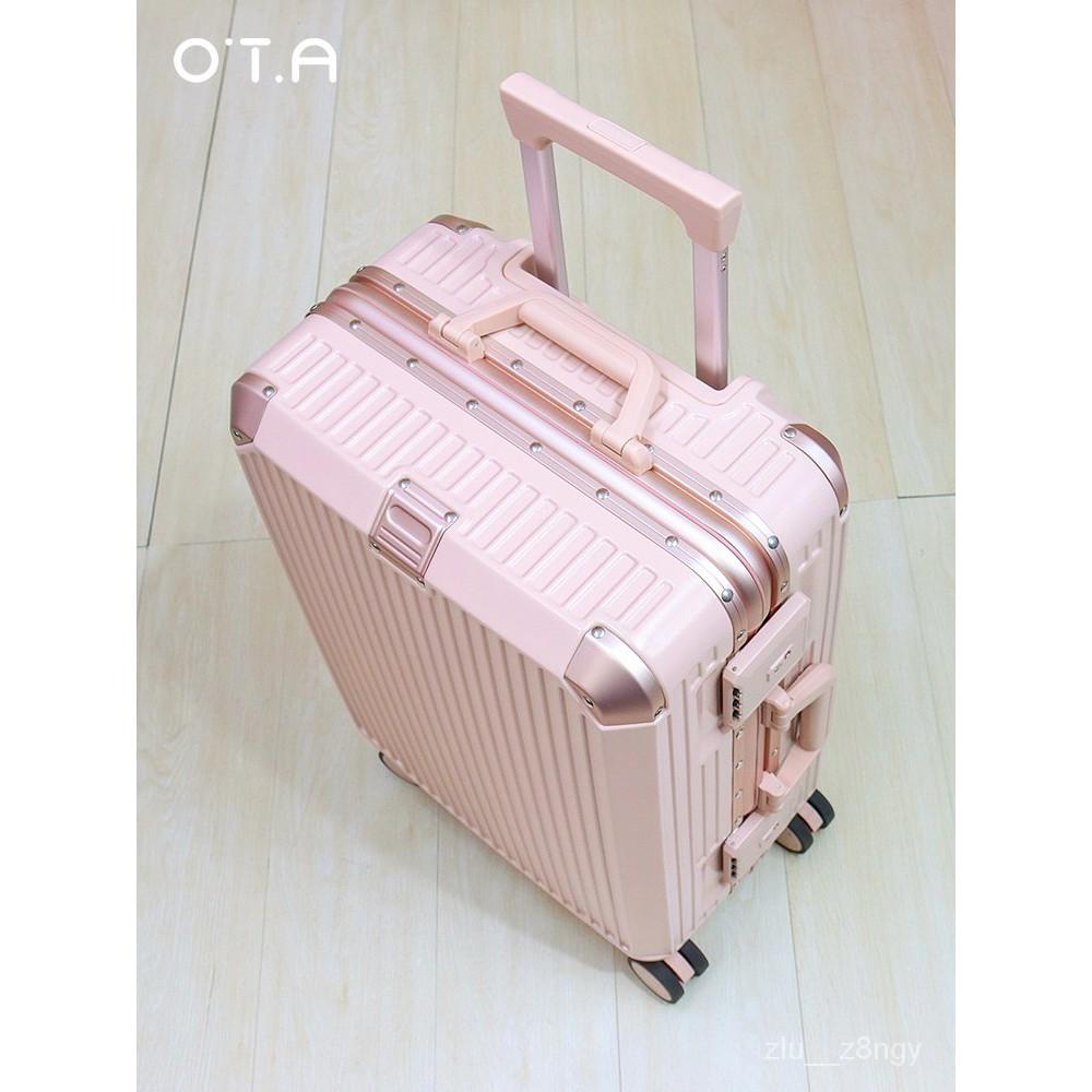 กระเป๋าเดินทางผู้หญิงใบเล็ก20นิ้วกินนอนกระเป๋าเดินทางล้อสากลทนทานกรอบอลูมิเนียมหนารหัสผ่านกรณีรถเข็น