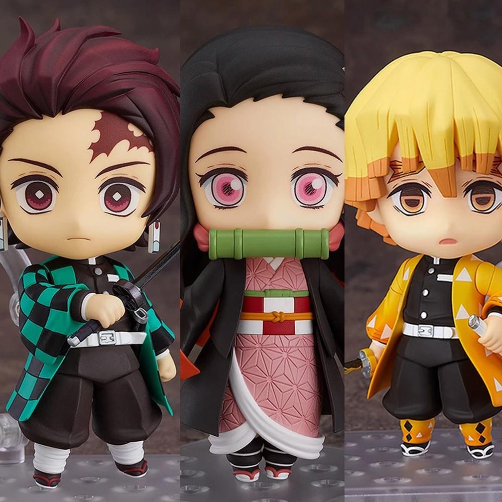 ﹉PVC Shinobu Doll Ornaments Kochou Zenitsu Miniatures Figurine Model Toy Figures Action Figure Toys Anime Demon Slayer