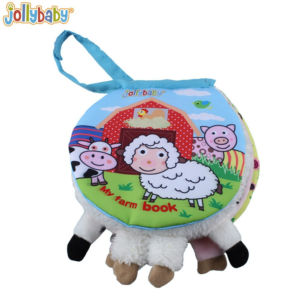 Jollybaby Animal cloth book Activity Book Baby Toy Cloth Develoment Books Learning & Education Unfolding Books