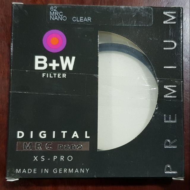 BW filter xs-pro mrc nano clear 007 62 mm 12-40 f2.8