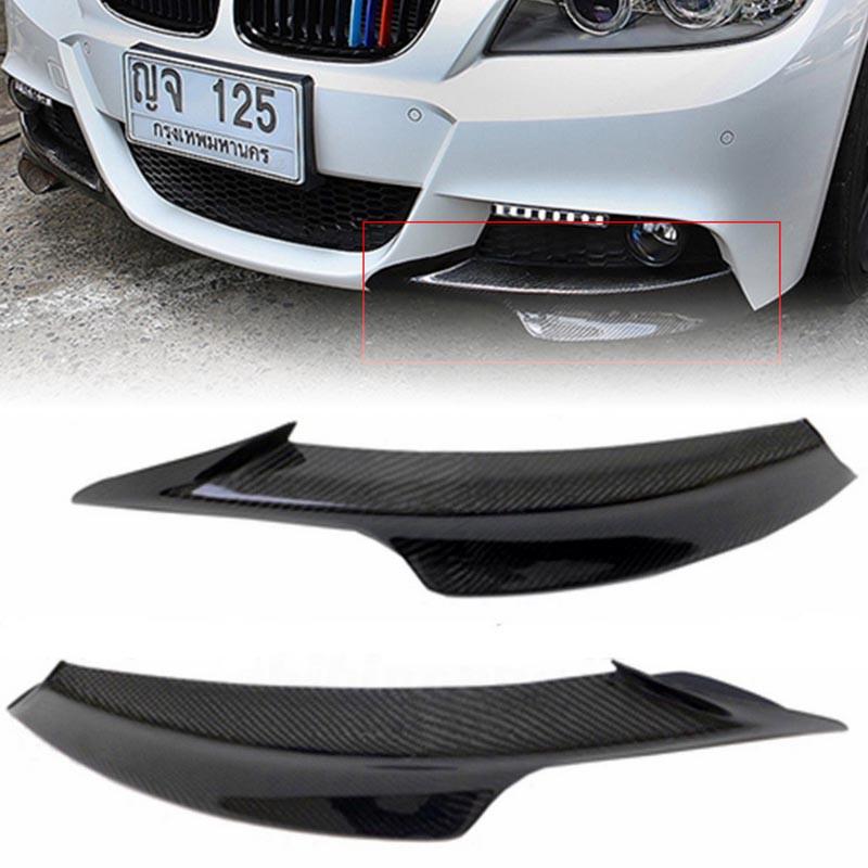 Carbon Fiber Front Bumper Splitter Lip For BMW E90 E91 3 Series M Tech 2009-2012