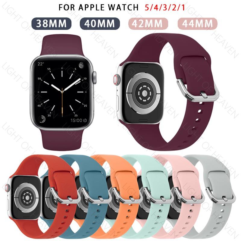 Apple Watch Series 5 4 3 2 1 strap 38mm 40mm 42mm 44mm Sport Soft Silicone Strap Watch Band Bracelet Accessories hAoV