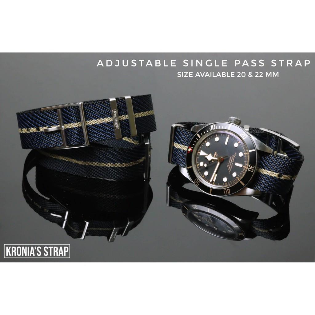 สาย applewatch สาย applewatch แท้ สายนาฬิกา สายนาโต้ สไตล์ Tudor รุ่น Adjustable Single Pass Strap