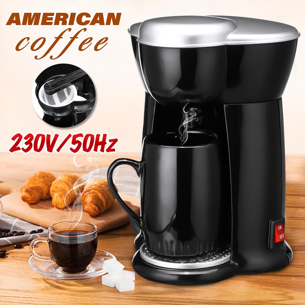 300W 140MLถ้วยเดียวหยดเครื่องทำกาแฟไฟฟ้าอัตโนมัติชาเอสเพรสโซ่IE RzNc