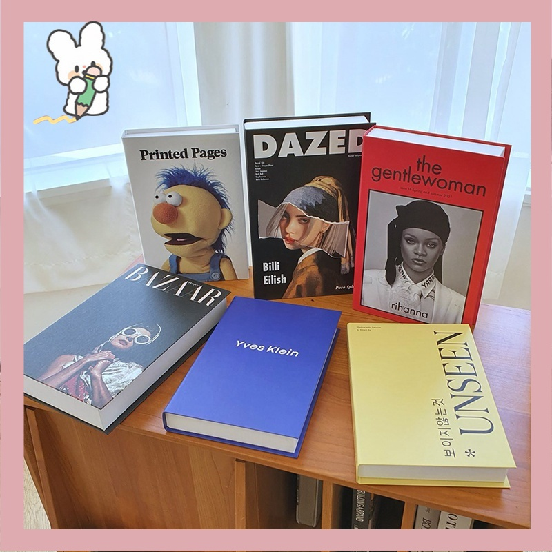 Decorative Simulation Books Fashion Character Photography Prop Book