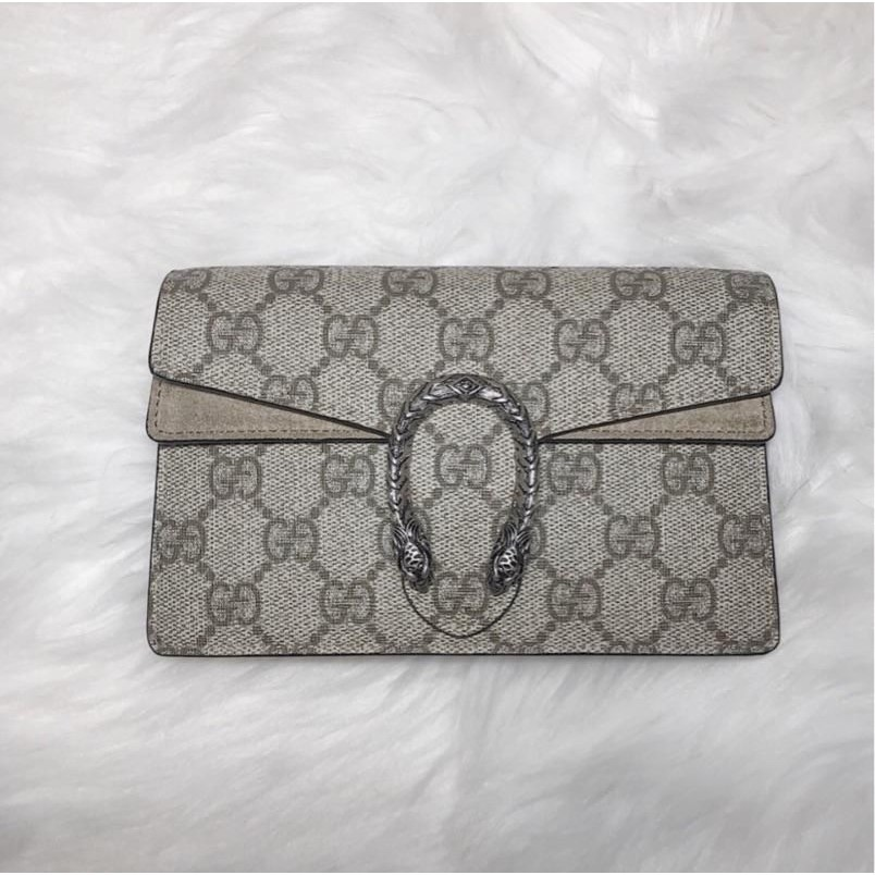 เคาน์เตอร์ของแท้ Gucci Gucci Dionysus GG Supreme 476432 mini crossbody Dionysus bag spot