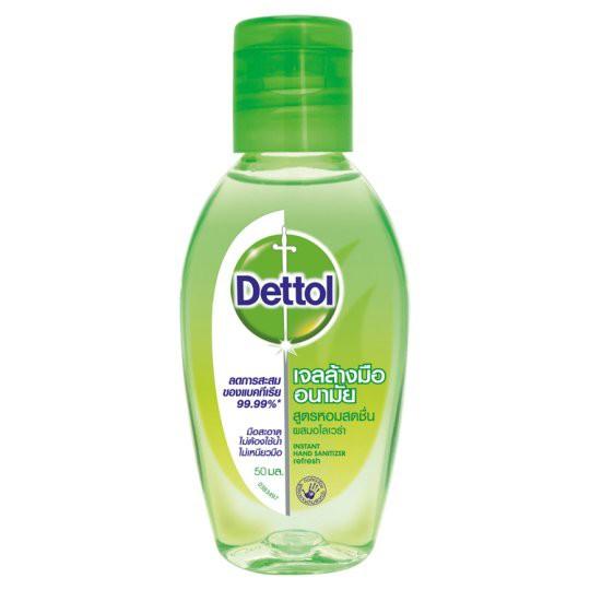 Dettol Instant Hand Sanitizer Refresh เดทตอล เจลล้างมืออนามัย 50 มล.