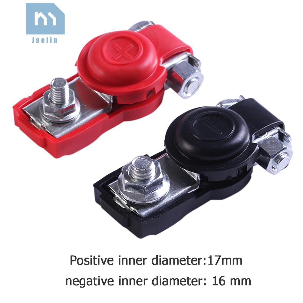 1 Pair Alloy Positive Nagative Car Battery Terminal Clamp Clips Connector
