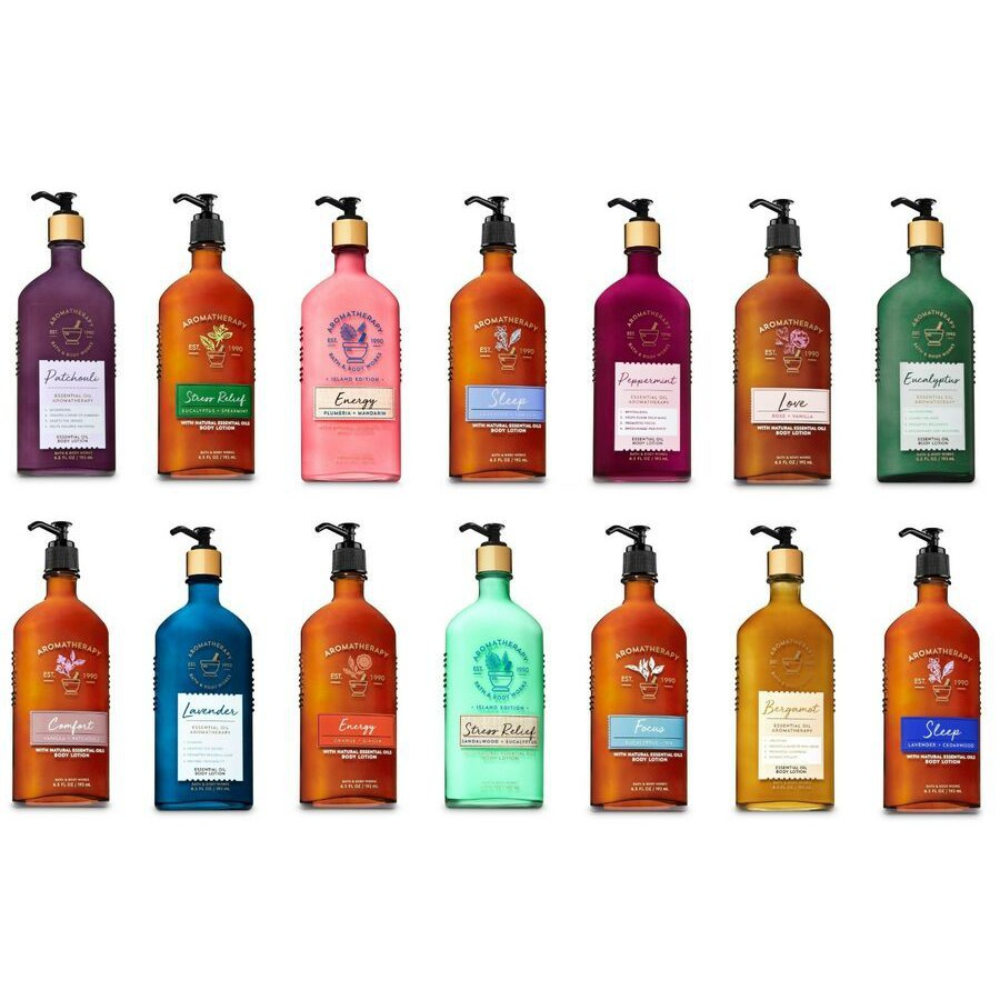 Bath and Body Works Aromatherapy body lotion 6.5 oz (192 ml) ขวดแก้ว Bath&BodyWorks โลชั่นบำรุงผิว จากอเมริกาค่ะ