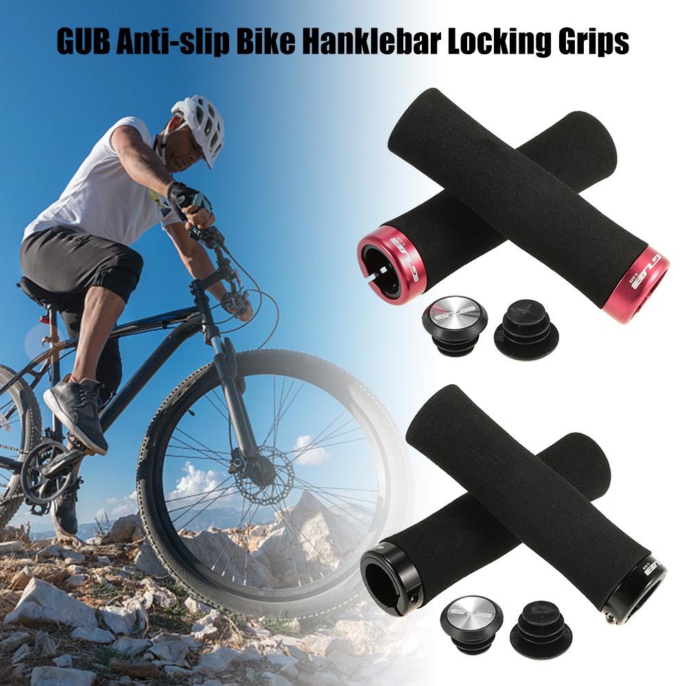 MTB Road Bike Grips Anti-skid Lockable Alluminium Alloy Rubber Handlebar Grip