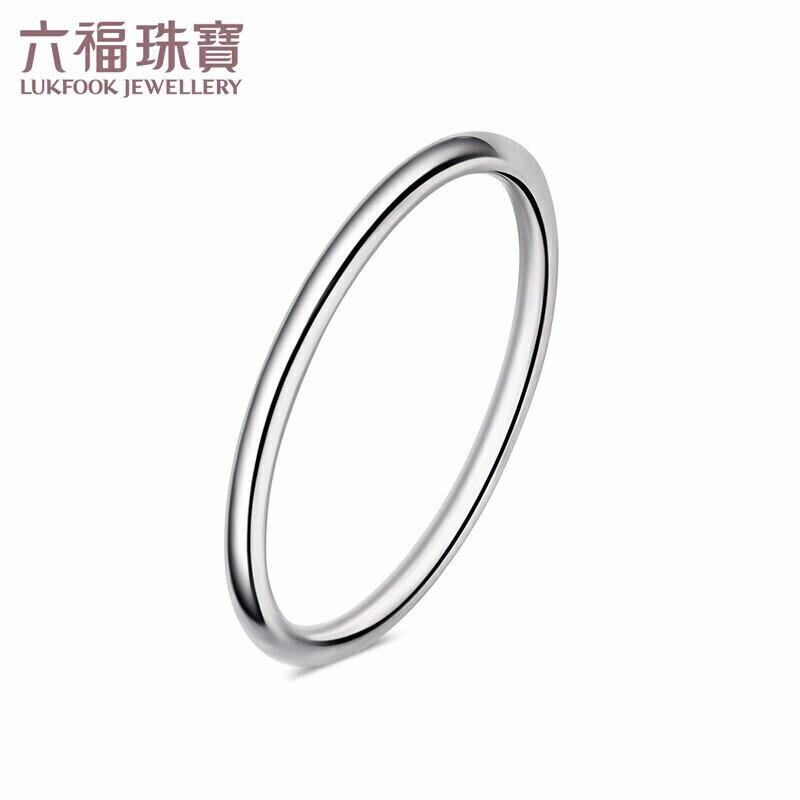 Fu เครื่องประดับ t950แหวนทองคำขาวเรียบง่ายแหวนคู่ การกำหนดราคา F63TBR0011 13ฉบับที่ประมาณ2.52