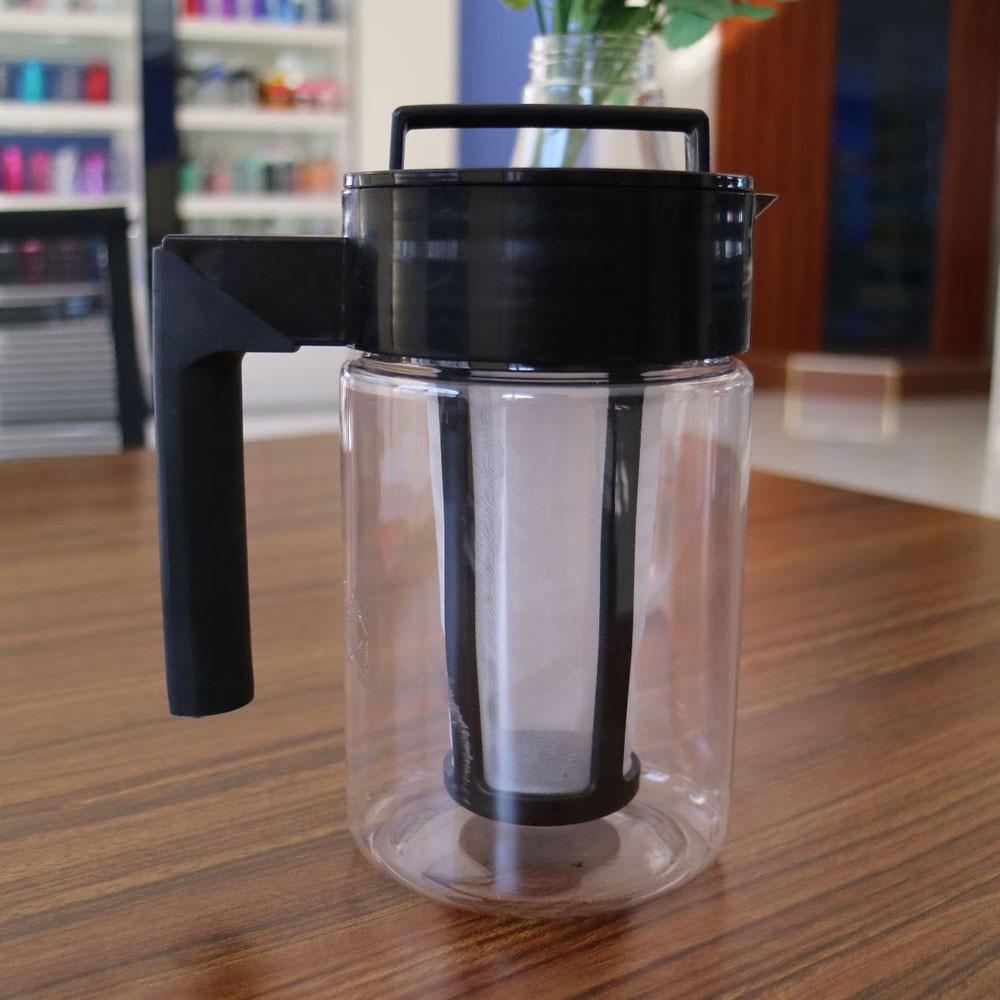 □●เครื่องทำกาแฟสกัดเย็น มือจับซิลิโคน ความจุ 900 มล.