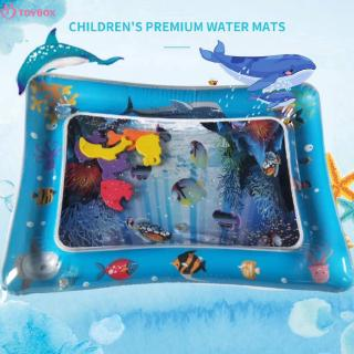 Baby Inflatable Water Mat For Baby Infant Toddlers Mattress Splash Playmat Tummy Time Fun