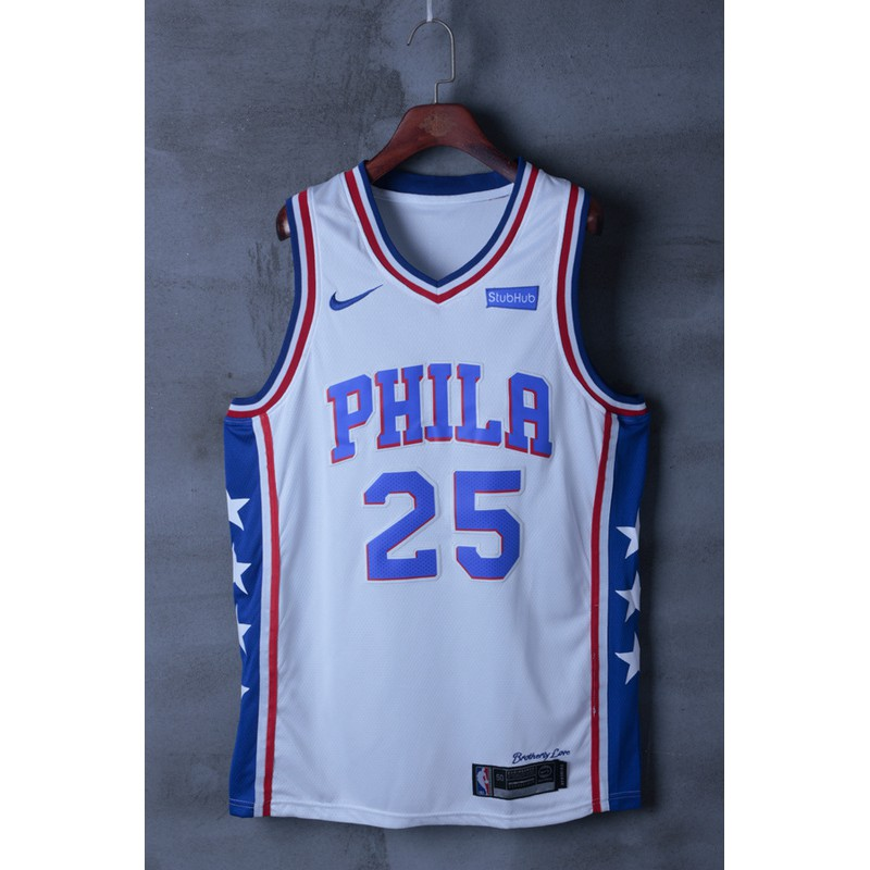save off c291a 60930 COD really stock Philadelphia 76ers Ben Simmons NBA Jersey #25 new