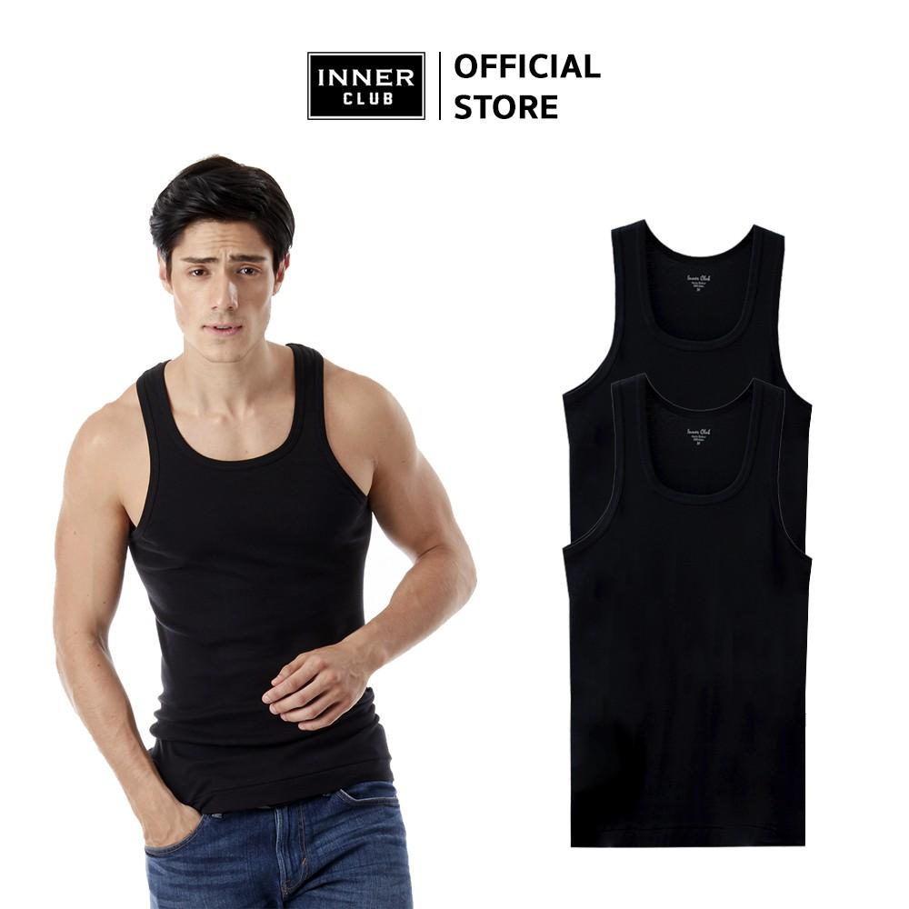Inner Club เสื้อกล้ามชาย (แพค 2 ตัว) สีดำ