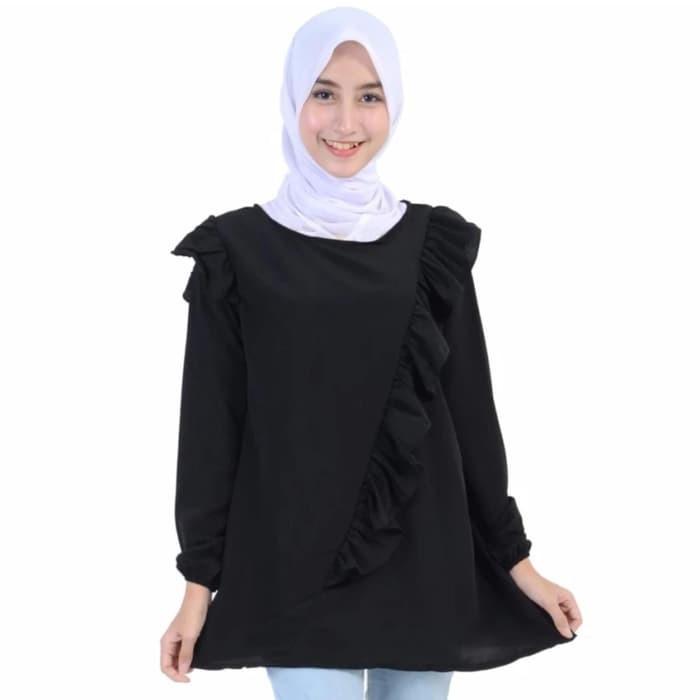 เสื้อเบลาส์เสื้อเบลาส์ Devy blouse / Tunic / ity crepe (Paris Black SW) สําหรับผู้หญิงสีดํา 49AGM