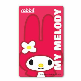 Rabbit Card - My Melody สีแดง for Adult