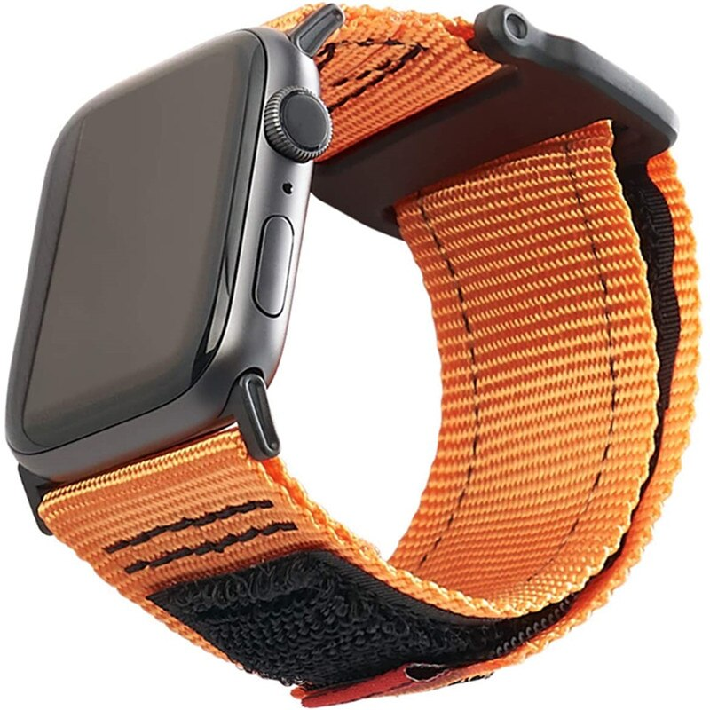 Outdoor Nylon Strap For Apple Watch Band 44mm 40mm 38mm 42mm Belt Bracelet iWatch Series Bands 6 SE 5 4 3 Men's Sports W