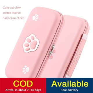switch storage bag hard shell Nintendo NS game console accessories portable cute cat s claw pink peripheral finishing card full set of protective cover box hand commuter