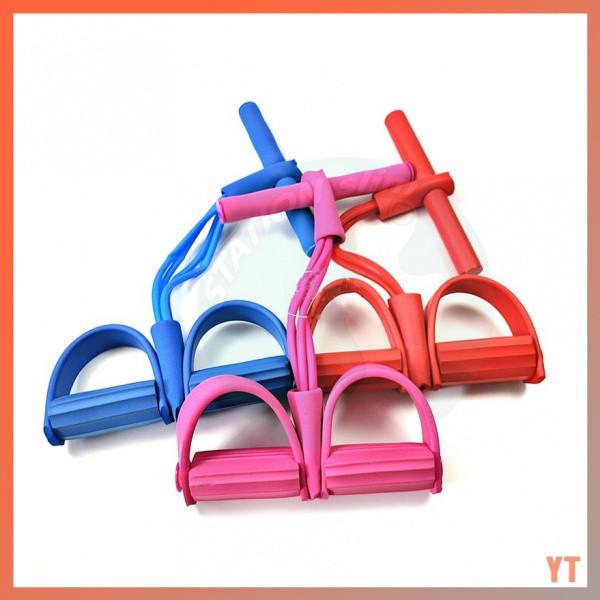 ✔️เตรียมการจัดส่ง✔️ยางยืดออกกำลังกาย ยางยืดสายแรงต้านแบบสาย4เส้น ยางยืดออกกำลังกายแบบ 4 เส้น Pull Up Pedal Resistance Ba