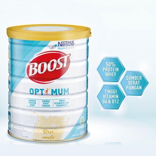 (800 กรัม) NESTLE BOOST OPTIMUM นมวานิลล่ารสชาติ 800กรัม