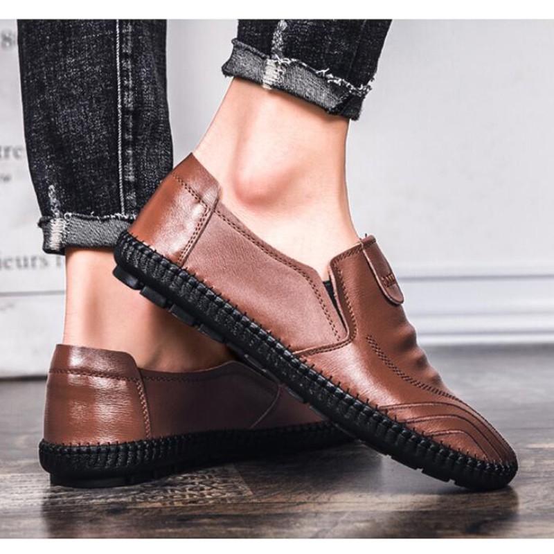 ❁❈❇Qing Shui Store รองเท้าผู้ชายรองเท้าหนังชายรองเท้าหนังชายรองเท้าคัชชู ผชcasual Shoes Men