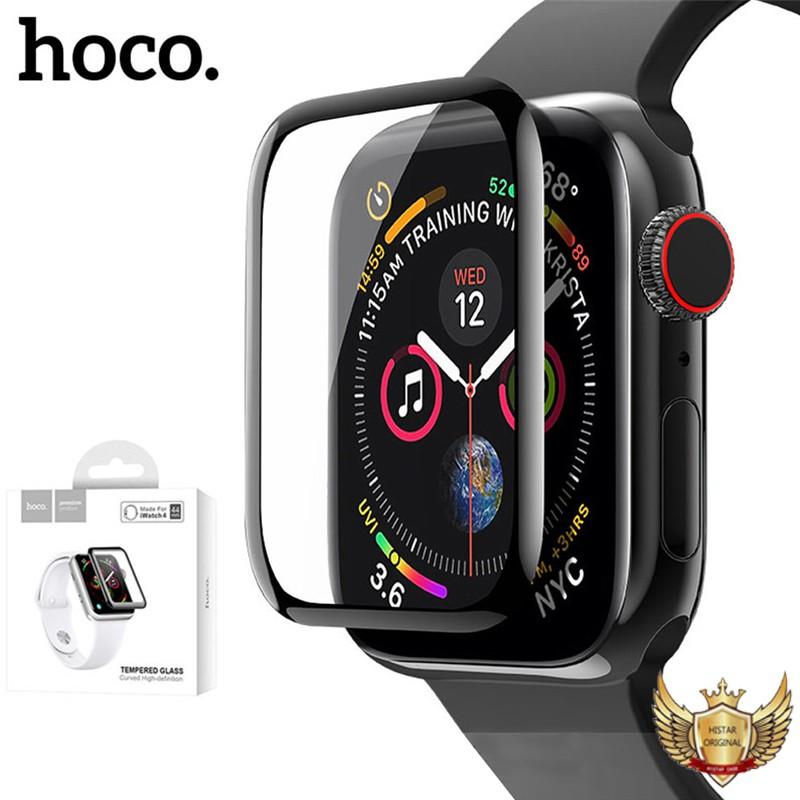 ฟิล์มกระจก3D Hoco สีดำ ฟิล์มกระจกเต็มจอ ฟิล์ม apple watch ฟิล์มกระจก Apple Watch Apple Watch Series 4-5 (40/44mm)