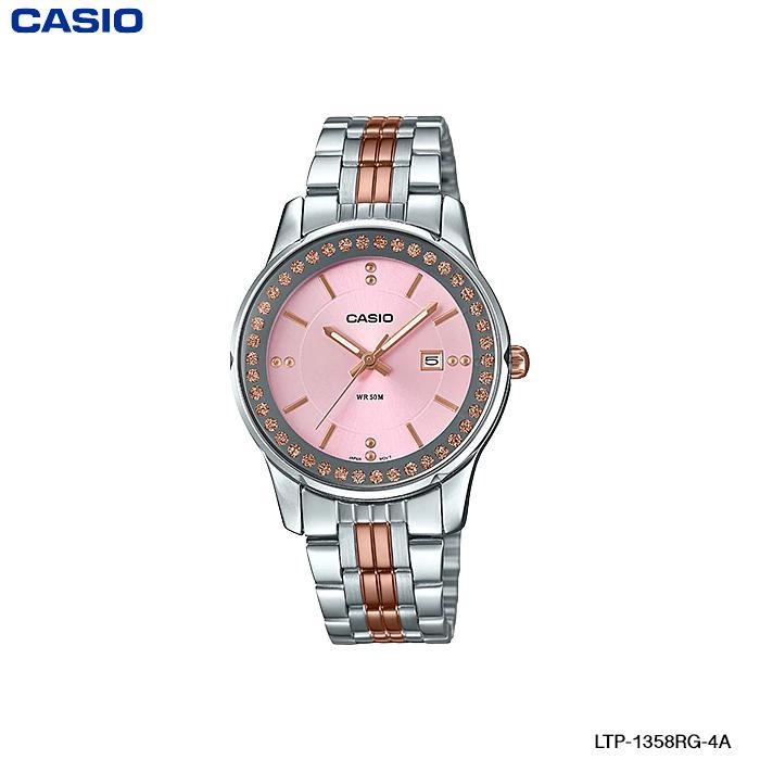 Watchup นาฬิกา Casio Standard นาฬิกาข้อมือผู้หญิ สายสแตนเลส สองกษัตริย์ รุ่น LTP-1358RG LTP-1358RG-7A LTP-1358RG-2A LTP-