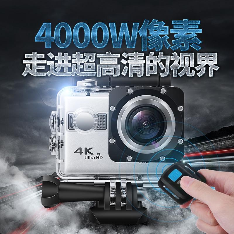 กล้องกีฬาหมวกกันน็อคมอเตอร์ไซค์ HD 4K ขี่ดำน้ำชมปะการังกล้องบันทึกวิดีโอจักรยาน