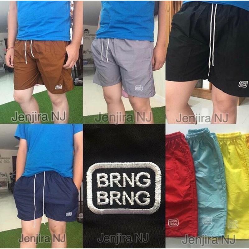 กางเกงขาสั้น BRNG BRNG โลโก้ปัก ถูกๆ?ลดแรง?