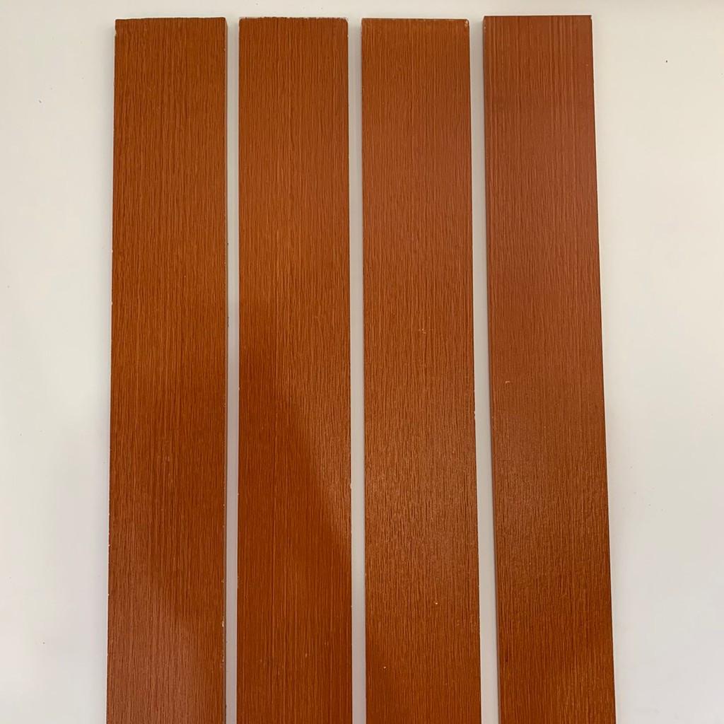 ไม้รั้ว เฌอร่า รุ่นโมเดิร์น ลายเสี้ยน สีโอ๊คแดง หน้า 4 นิ้ว ยาว 1.50 ม. (2 ชิ้น/แพค)
