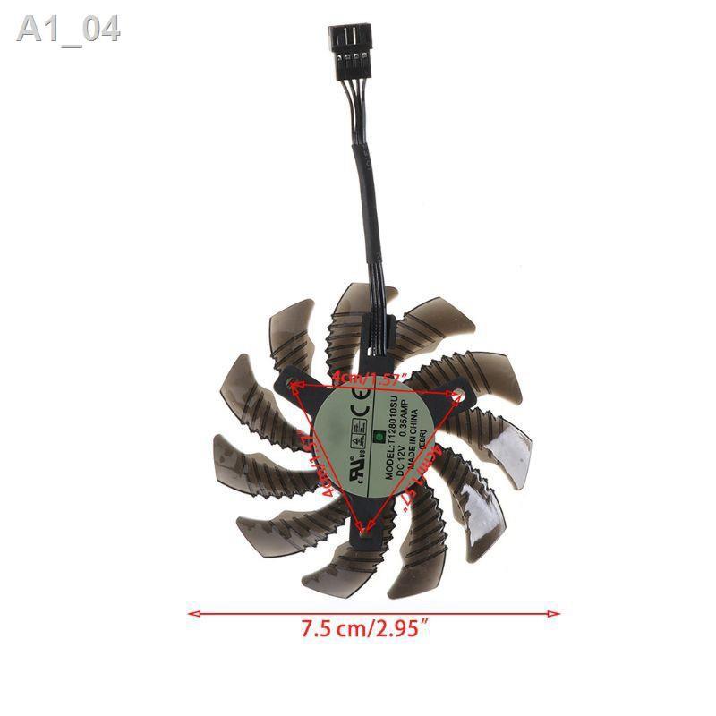 ❤สินค้าบูติก❤►✤ระบายความร้อน T128010SU 4Pin ขนาด 75 มมสำหรับ Gigabyte AORUS GTX 1060 1070 1080
