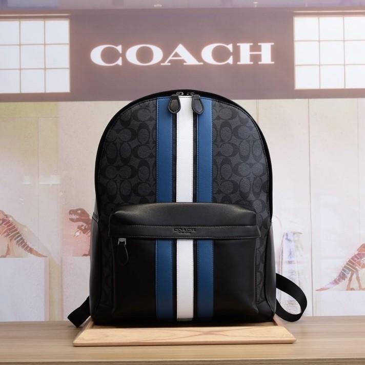 แท้ 100%กระเป๋าเป้หนังผู้ชาย COACH F26066 ใหม่กระเป๋าเป้หนังกระเป๋านักเรียนกระเป๋าเป้เดินทางชายพร้อมใบยืนยันการซื้อ